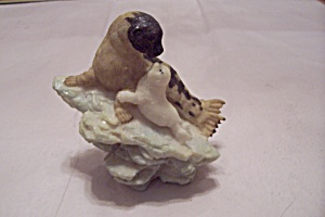 Resin Seal & Her Pup Figurine