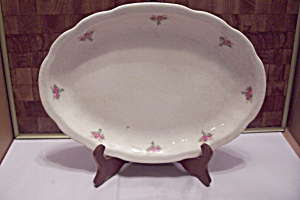Large Pink Rose Decorated China Platter