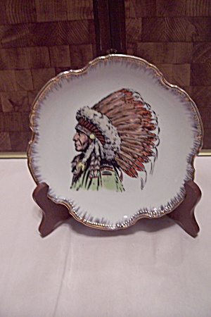 Japanese Hand Painted Indian Chief Collector Plate