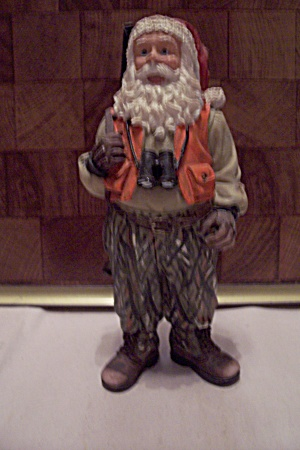 Porcelain Santa Claus As A Hunter Figurine