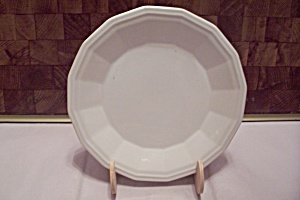 Homer Laughlin Colonial White Pattern China Salad Plate