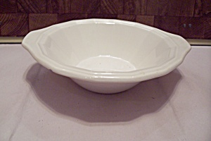 Homer Laughlin Colonial White Patterh China Cereal Bowl
