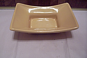 Usa Yellow Pottery Footed Planter/bowl