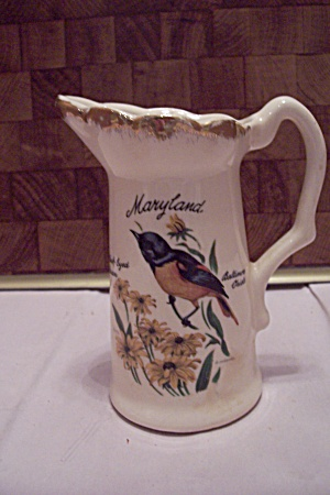Maryland Souvenir Decorative Porcelain Pitcher