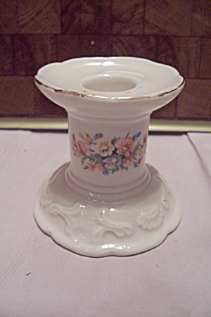 White Porcelain Floral Decorated Candle Holder