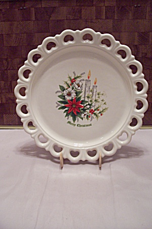 White Porcelain Christms Serving Tray