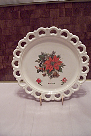 White Porcelain Christmas Serving Tray