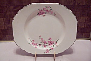White Cherry Lossom Pattern Fine China Oval Platter