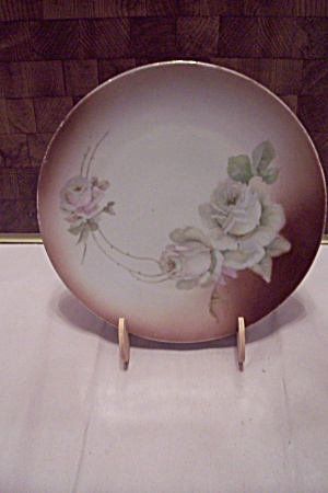 German Hand Painted Floral China Collector Plate