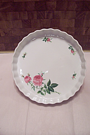 Christinehom Porcelain Red Rose Decorated Serving Tray