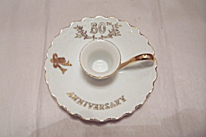 Lefton 50th Wedding Anniversary China Candle Holder