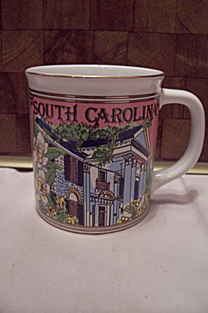 South Carolina Souvenir Porcelain Mug
