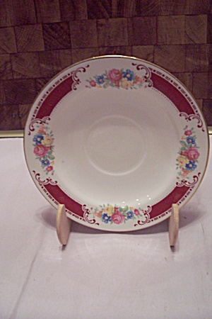 Homer Laughlin Flower Bouquet Decorated China Saucer (Image1)