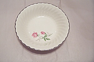 Swirl & Rose Pattern China Bowl
