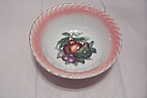 Japanese Fruit Decorated China Bowl