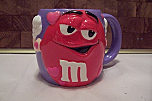 Purple Porcelain M & M Advertising Mug