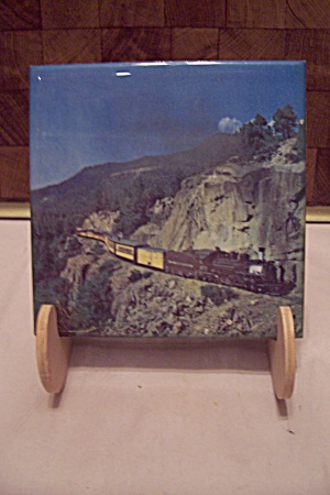 Decorative Railroad Scene Art Tile