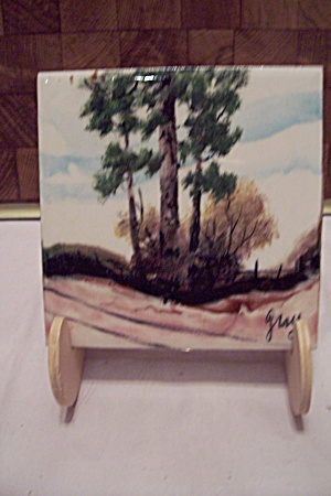 Hand Painted Decorative Art Tile