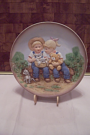 Homco Denim Days Collector Plate