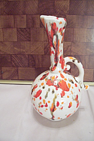 Splatter Painted Ceramic Art Ewer