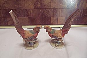 Pair Of Lefton Porcelain Golden Pheasant Figurines (Image1)