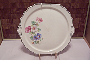 China Flower Decorated Collector Plate Or Chop Plate