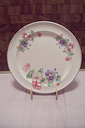 White China Floral Decorated Collector Plate