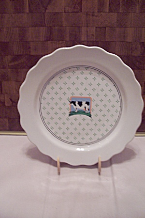Vander Country Holstein Cow Decorated Dinner Plate