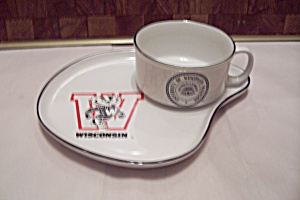 University Of Wisconsin China Souvenir Snack Set