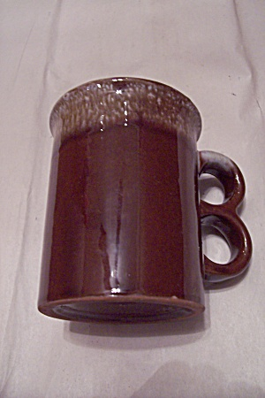 Korean Brown Drip Pottery Mug