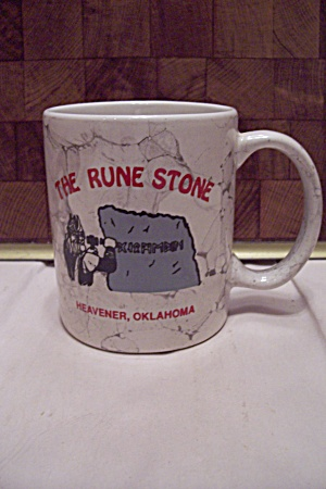 Porcelain Souvenir Mug For The Rune Stone, Ok
