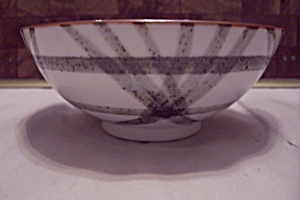 Japanese China Hand Painted Footed Rice Bowl