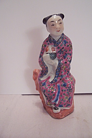 Hand Painted Chinese Female Figurine