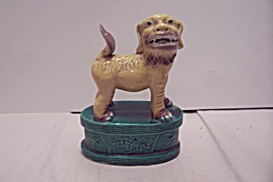 Porcelain Hand Painted Temple Shi Shi Dog