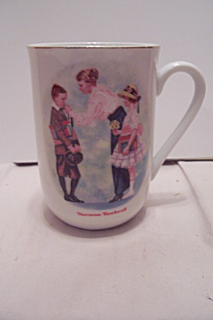 Porcelain Norman Rockwell The First Day Of School Mug