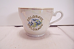 Souvenir Colorful Colorado China Teacup