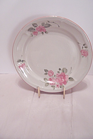 Gibson Pink Rose Pattern China Dinner Plate