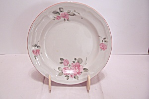 Gibson Pink Rose Pattern China Salad Plate