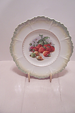 Strawberry & Gooseberry Decorated Collector Plate