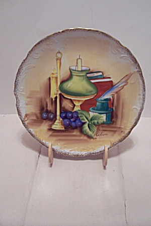 Hand Painted Still Life Collector Plate