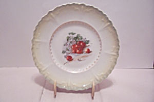 Cherry & Cherry Blossom Decorated Collector Plate