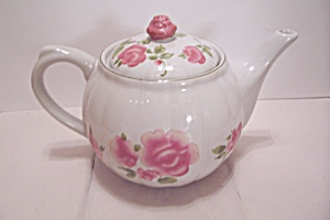 Gibson Pink Rose Pattern China Teapot