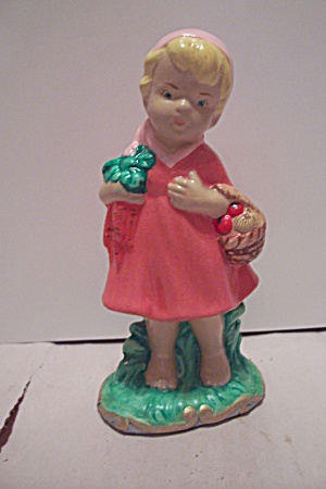 Ceramic Art Hand Painted Little Girl Figurine