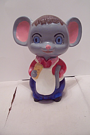 Hand Painted Ceramic Art Mouse Figurine (Image1)
