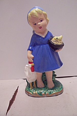 Hand Painted Ceramic Art Little Girl Figurine