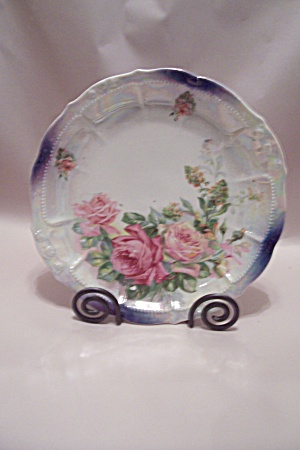 Rose Decorated German Collector Plate