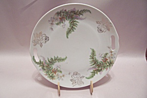 Rose & Fern Decorated Collector Plate