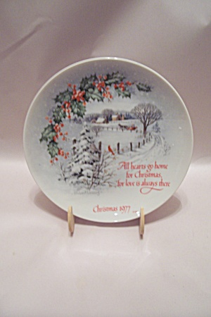 Winterscene Series Iii Christmas 1977 Collector Plate