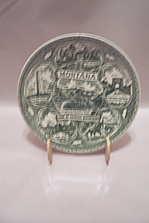 Montana Land Of Shining Mountains Collector Plate