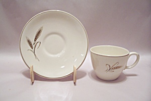 Royal Yogi Wheat Pattern Fine China Cup & Saucer Set
